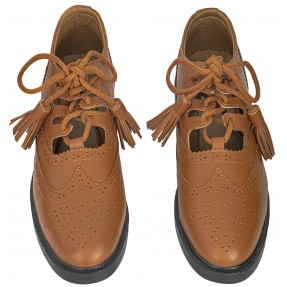 Brown Ghillie Brogues Kilt Shoes